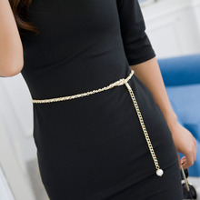 2017 Fashion Metal Waist Chain cummerbunds for women girls string waistband