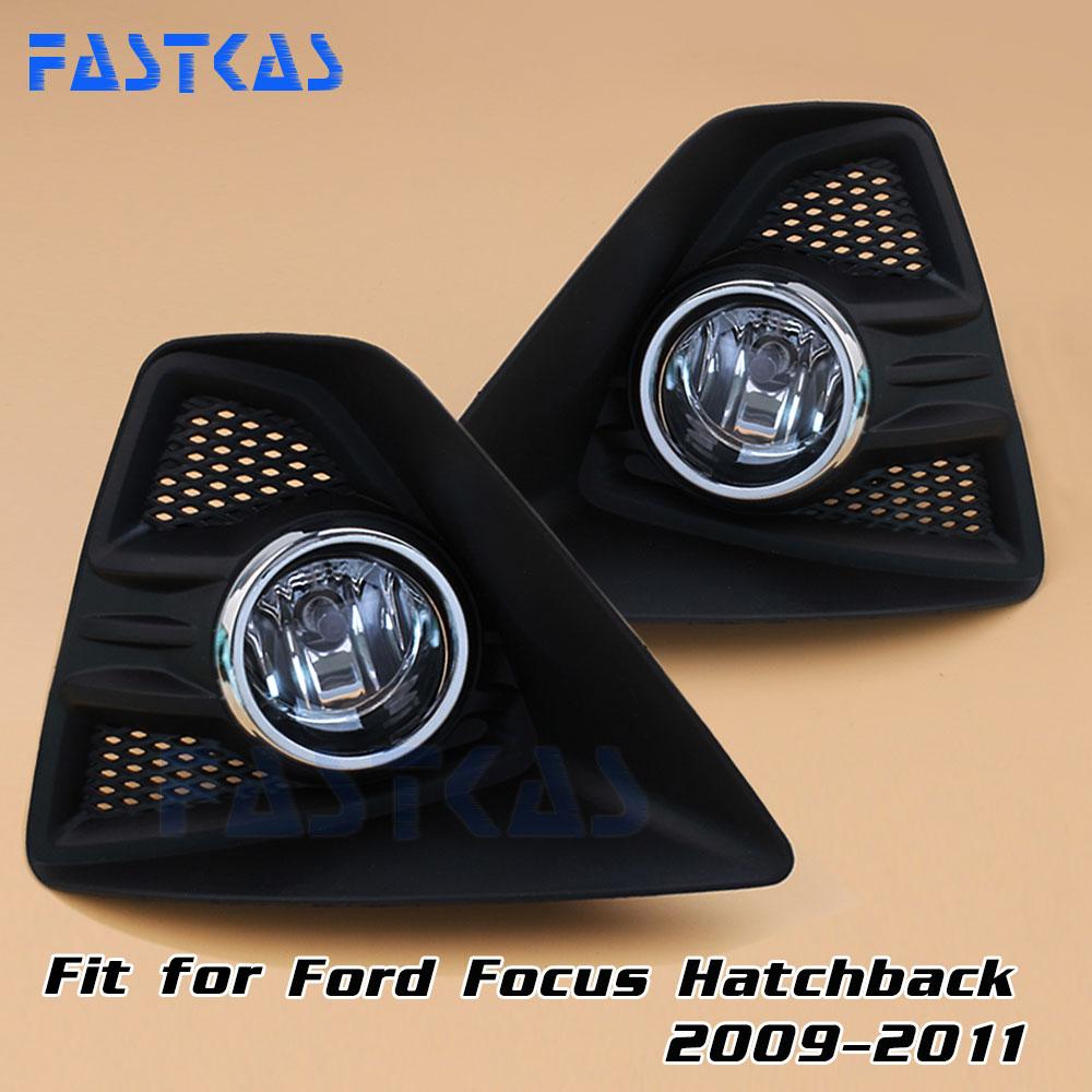 12v 55W Car Fog Light Assembly for Ford Focus Hatchback 2009 2010 2011 Front Fog Light Lamp with Harness Relay Fog Light<br>