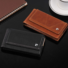 For iPhone 7 Plus Pierre Cardin Flip Genuine Leather Design Horizontal Belt Clip Magnetic Closing Holster Case Cover+1 Flim