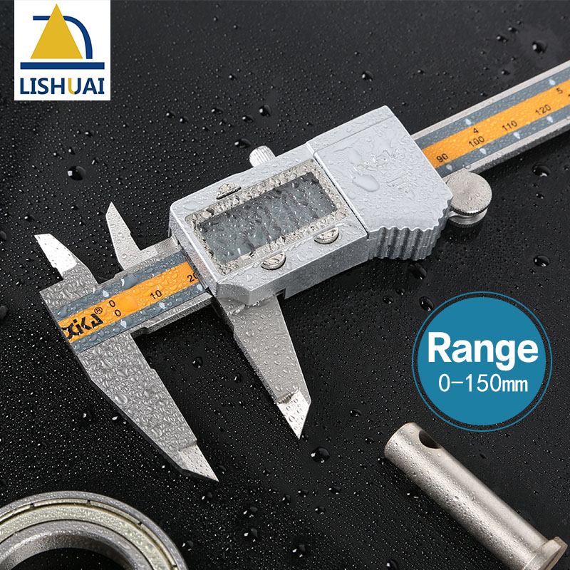 New Arrival 150mm 6 inch LCD Digital Electronic Stainless Steel Vernier Caliper Gauge Micrometer Measuring Tool<br>