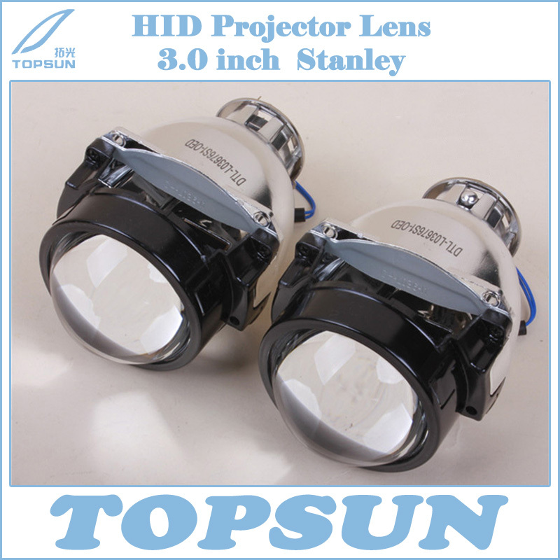 Free Shipping 3.0 inch Stanley Auto Headlight Projector Lens with Excellent High/Low Beam, Fit for H7 H9 D1S D2S HID Xenon Bulb<br><br>Aliexpress