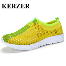 KERZER 2017 Summer Children's Shoes For Boys And Girls Mesh Kd Shoes Green Blue Kids Sport Sneakers Lightweight Girls Trainers