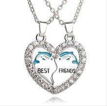 2016new Europe and the United States selling best friends girlfriends set of good friends dolphin pendant necklace free delivery