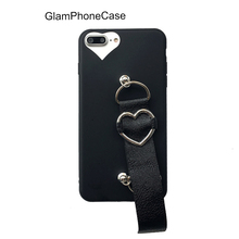 Top Popular Lovely Heart PU Leather Strap Phone Case for Iphone 7 7plus 6 6s Plus for Woman Cases Soft Silicone Cover Capa(China)