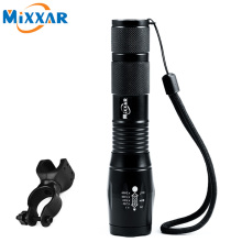 ZK50 CREE XM-L T6 4000LM Waterproof Bicycle Light Torch Zoomable LED Flashlight LED Light Flashlight Lantern With Bike Holder