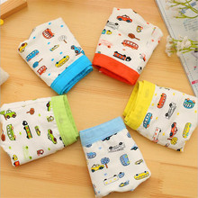 5 Piece/lot Boys Underwear Cartoon Car Pattern Children's Pants Modal Kids Boxer Underpants Briefs Baby Boys Underware(China)
