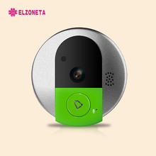 ELZONETA D01 HD 720P Wireless WiFi Security IP Door Camera Night Vision Two Way Audio Wide Angle Video Doorcam Cam