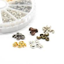 Crimp Beads Covers 4mm Jewelry Findings 590pcs/box For DIY Necklace Earring Bracelets  Making Mixed 6 Colors Hole: 1.5~1.8mm