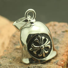 Unisex 316L Stainlesss Steel Silver Fleur De Lis Jingle Bell Cross High Quality Polishing Fashion Pendant Gift(China)