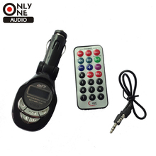 ONLY ONE AUDIO New High Quality Fashion Black Car MP3 Player FM Transmitter USB Pen Drive For SD MMC Slot Card
