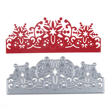 Christmas snowflake border  metal dies cutting decoration Scrapbooking Craft Dies cuts DIY Stamps Embossing paper Cards Stencil