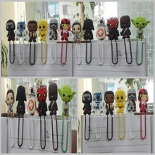100pcs star war pvc bookmark holder paper clip Book marks Office Supplies Stationery kids party gifts