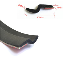 Z Shape 3Meter 118 Car Door bonding 3 MAdhesive Tape Rubber Strip Wheatherstrip Sealing engine Auto waterproof Molding Protector(China)