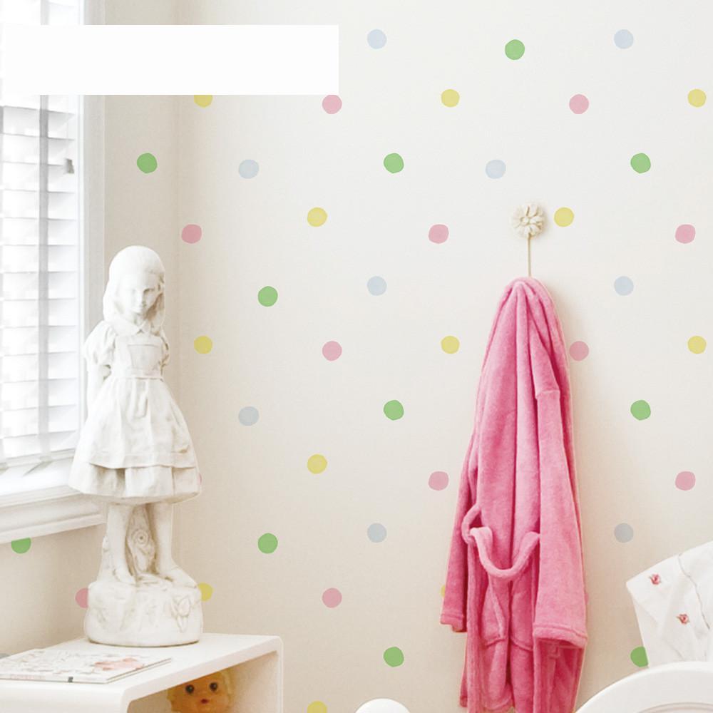 Free Shipping Environmental Protection Non-woven Wallpaper Boy Girl Baby Bedroom Full Of Love Dot Dot 5.3m2<br><br>Aliexpress