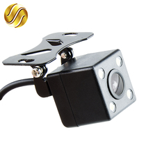 170 Degree 4 LED Night Vision Car Rear View Camera HD Video Waterproof Auto Parking Monitor Reversing CCD(China)