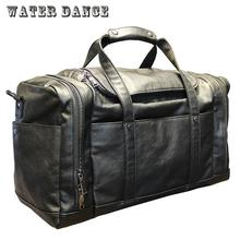 2017 Men Soft Leather Travel Bag Classic High-Capacity handbag For Waterproof Shoulder Bags Luggage Bolsa DeporteBolsa Feminina