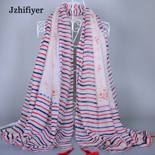 Jzhifiyer scarf shawls factory wholesale Cotton Shawls 110*180cm 115G High Quality Fashion Sarong Beach Pareo Scarves(China)