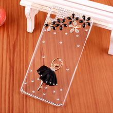 For HTC Desire 626 White Black Pink Ballet girl Clear hard plastic mobile phone Smile Case for HTC Desire 626 / 626G dual sim