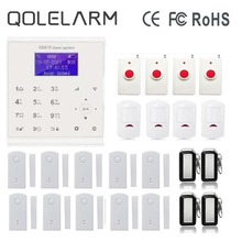 QOLELARM Spanish/French/Danish/Polish Menu WIFI GSM Home Alarm System House Security Wireless Panic Button PIR Motion Detector - Applink Store store