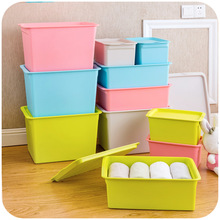 Covered storage box finishing children's toys, clothes closet debris sorting box storage box
