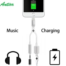 2 in 1 3.5MM Charging Audio Adapter For iPhone 7 7 Plus Lightning to 3.5MM Headset Jack Charger Earphone Converter Cable