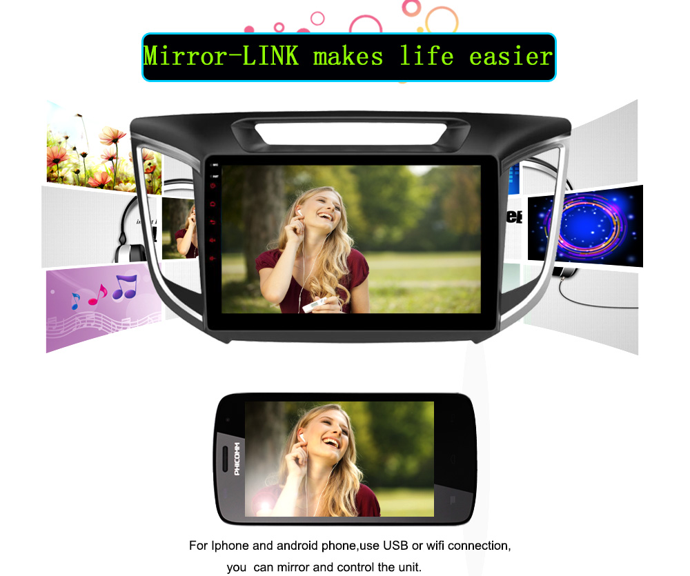 Android 6.0 CAR Audio DVD player FOR HYUNDAI ix25CRETA gps Multimedia head device unit receiver BT WIFI mirolink
