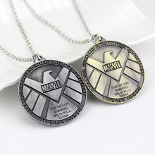 Agents Of S.H.I.E.L.D. Necklace Shield Badge Eagle Octopus Enamel Pendant Marvel The Avengers Logo Sign Movie Jewelry