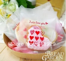 gift plastic bags (Just for you) open-top bakery bread, 12cmx18cm ,200pcs/lot , gift cake plastic bags, Free shipping(China)