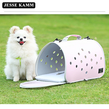 JESSE KAMM High Quality Pet Dogs and Cats Travel Bag Soft EVA Portable Foldable Pet Bag  Breathable Outdoor Carrier Pet Bag