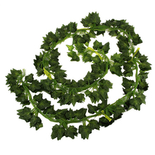 12pcs 6.5ft Artificial Wall Hanging Ivy Vine Foliage Leaf Garland Plants Decor Flowers Home Decor - Sweet Potato Leaf