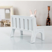 New Fasion Cute Dollhouse Miniatures Wooden Garden Outdoor Chair Seat Bench Accessories Furniture Park