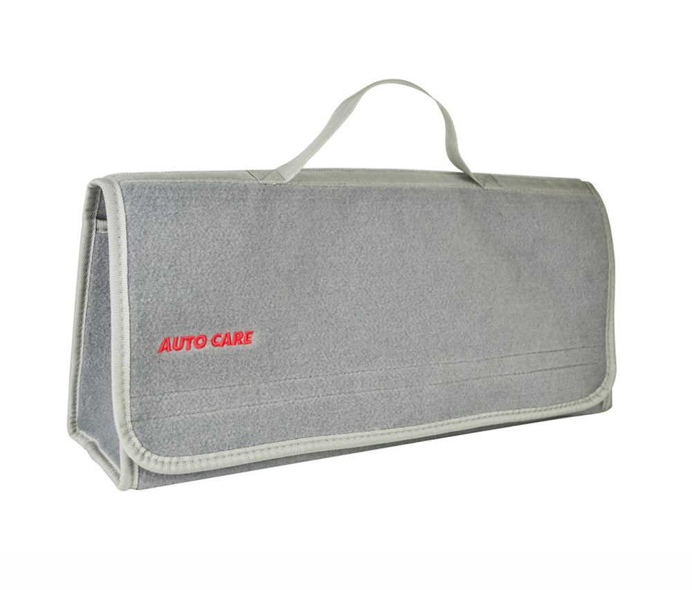 Auto Care Large Car Smart Tool Bag Grey Trunk Storage Organizer Bag Built in strong Velcrofix system holds to car carpet 2