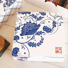 10pcs blue and white decoration long cookie biscuit cake boxes candy party gift package box supply favors