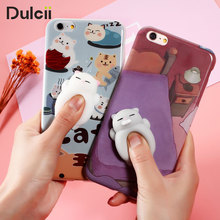 For Samsung S7 S7 edge S8 S8+ for iPhone Case Squishy 3D cute Soft Silicon Cat panda TPU Shell for Samsung S7 edge SM-G935