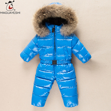 Winter Baby Boys Thick Rompers Baby Girl Snowsuit Coat Kid Outwear Down Jacket Children Clothes Ski Suit Infant Jumpsuit Costume(China)