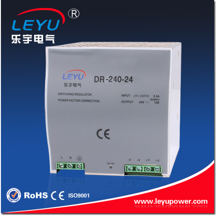 2016 Hot sell factory outlet DR-240-24 high quality SMPS Din Rail 240w 24V 10A power supply<br>