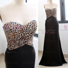 Black Mermaid Strapless Floor-Length Silk Prom Party Formal Evening Dress L  261155 d5d4363b3529