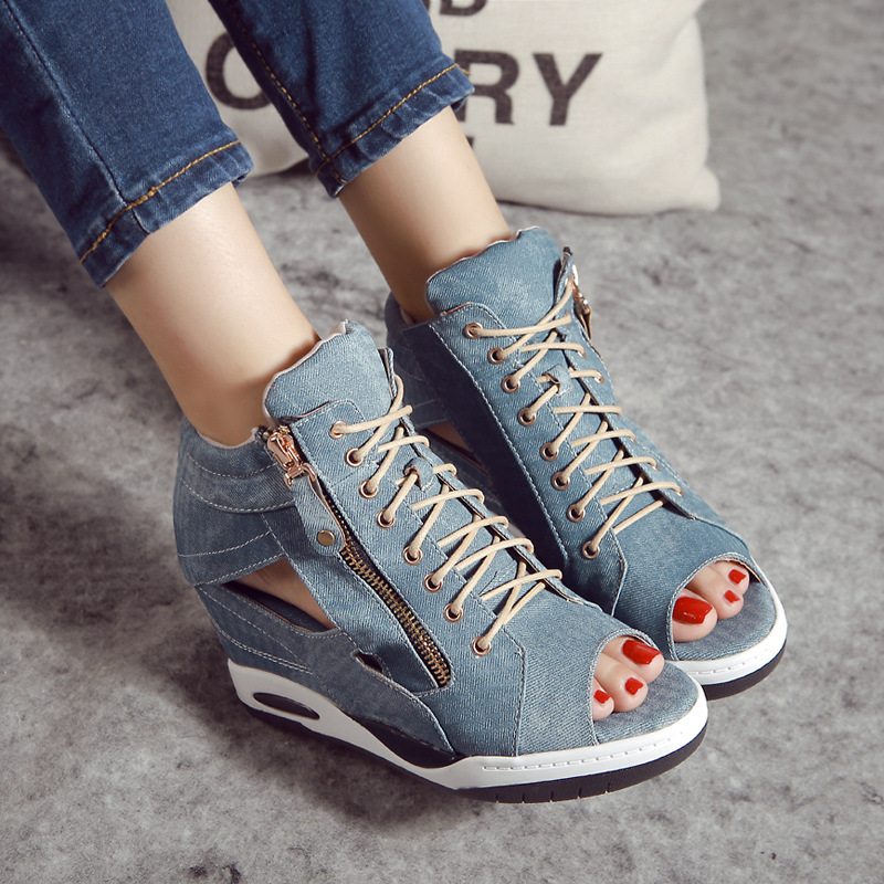 High Heels Gladiator Sandals Open Toe Shoes Sexy Lady Pumps Woman Wedges Shoes female Platform Lady Shoes Jeans Designer Wedges <br><br>Aliexpress