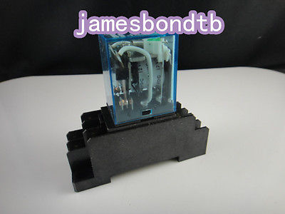 10set 24V DC Coil Power Relay MY4NJ HH54P-L 14 Pin 5A With PYF14A Socket Base<br>