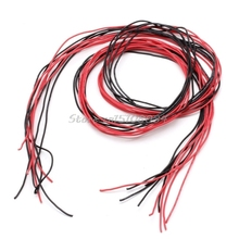 26AWG Silicone Wire Flexible Gauge Stranded V# Copper Cables 5m For RC Black Red #S018Y# High Quality