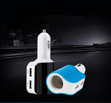 Quick Charge Car Charger 2 USB for HTC Aquire Google G1  Cigarette Lighter Power Socket Adapter for MINI JCW PACEMAN ROADSTER