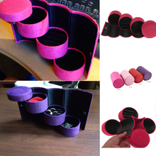 Useful 3 Layers Jewelry Box Accessories Cylinder Cases Necklace Earring Jewelry Holder Organizer Boxes Hot Selling 670388