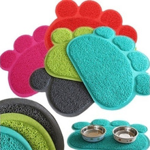 Cute Paws PVC Pet Cat Feed Blanket Pet Bowl Food Water To Foot Pad Dog Blanket Easy to Clean Pet Anti Blouse