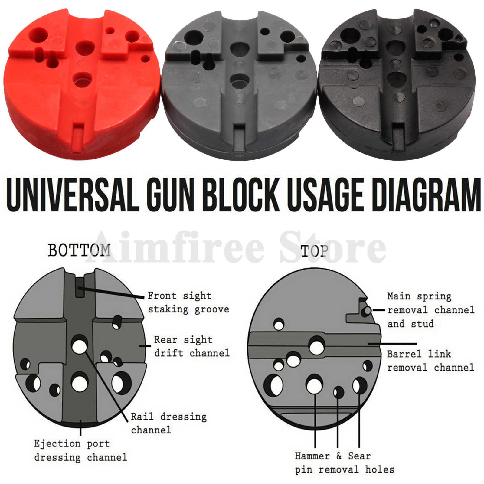 Universal Gunsmithing Bench Block Handgun Pistol M1911 Ruger 10