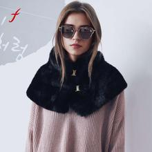 Feitong Hot Sale Women Fur Scarf Warm Ladies Scarves Casual 2017 Soft Neckerchief Short Scarf Scarves shawls stoles snud female(China)