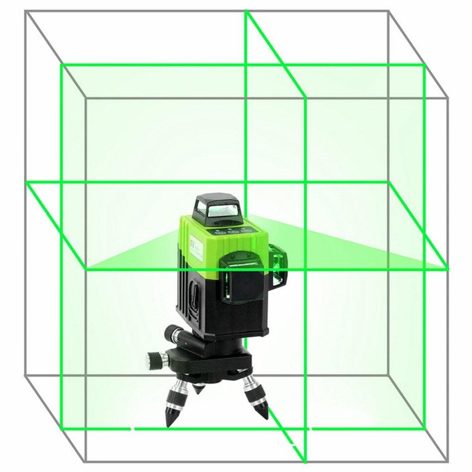 KaiTian 12Lines 3D Laser Levels Self-Leveling Cross Horizontal 360 Vertical Green Laser x Beam 532nm Line Lazer Nivel Level Tool light 2