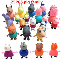 bela full range Toys PVC Action Figures Family Member pig Toy Juguetes Baby Kid Birthday Gift brinque