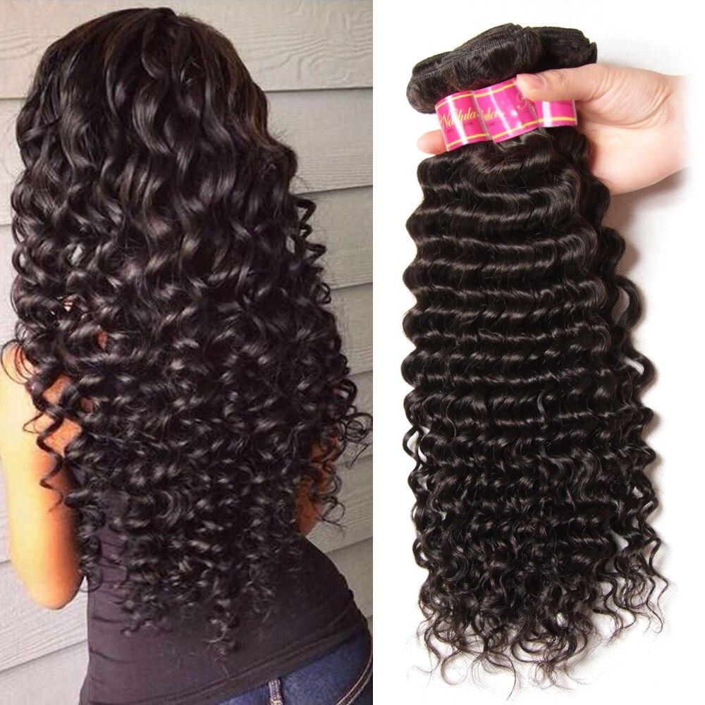 7A Brazilian Deep Wave Virgin Hair Extensions 100% Brazilian Human Hair Weave 3 Bundles Brazilian Deep Curly Virgin Hair Weave<br><br>Aliexpress