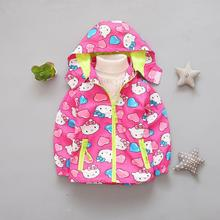 Hello Kitty Jackets,Kids Girl Jacket,Children Hoodies,Spring Autumn Clothes,Baby Girl Clothes,Windproof Coat,3-6T(China)