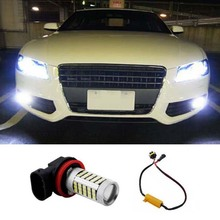 1pcs Super White H8 H11 CREE Chip 2835 66SMD LED Fog Light Driving Bulbs No Error for Audi A3 A4 A5 S5 A6 Q5 Q7 TT